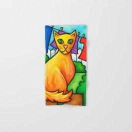 Cat On Fence Hand & Bath Towel