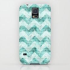 Teal Wood Chevron  Slim Case Galaxy S5