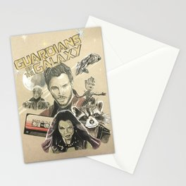 Guardians of the galaxy montage Stationery Cards