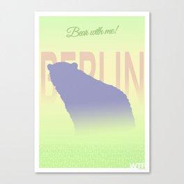 Berlin - Bear with me! Canvas Print