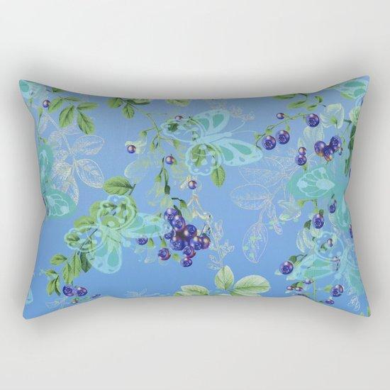 blueberries and butterflies Rectangular Pillow