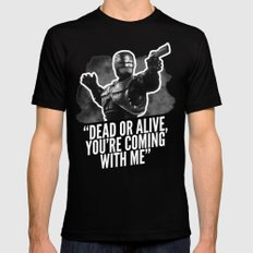 Badass 80's Action Movie Quotes - Robocop Mens Fitted Tee LARGE Black