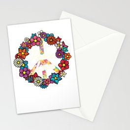 LGBT Peace Sign Stationery Cards