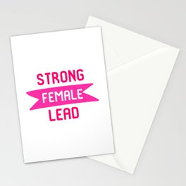 Strong Female Lead Filmmaker Film School Quote Stationery Cards