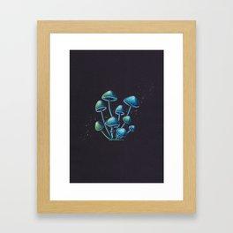 Mystic Magic Mushrooms Framed Art Print