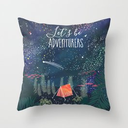 Let´s be adventurers Throw Pillow