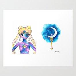 Crystal Moon Power Art Print