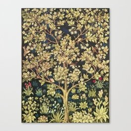 William Morris Tree Of Life Canvas Print