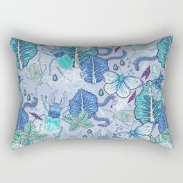 Frozen bugs in the garden Rectangular Pillow