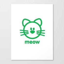 Cat : meow Canvas Print
