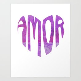 Amor = Love   Art Print