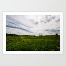 On Fields of Yellow and Green Art Print