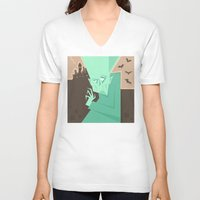 vampire V-neck T-shirts featuring Vampire by 5wingerone