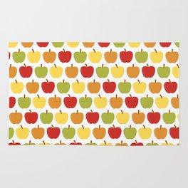 Apples Over White Rug