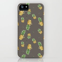 Kaki pineapple pattern iPhone Case