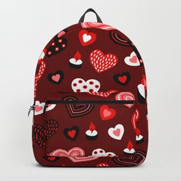 Valentine Hearts and Votive Candles Backpack