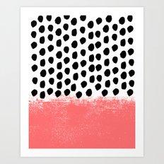 Lola - Abstract, pink, brushstroke, original, painting, trendy, girl, bold, graphic Art Print