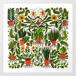 Garden Pots Art Print