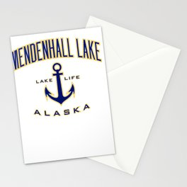 mendenhall lake ak tee for women & & guys Stationery Cards