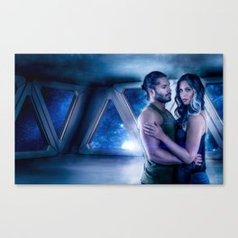 Terry and Char in Space Canvas Print