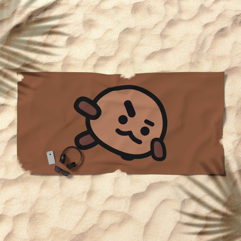 c07dc4ca5 Shooky - BT21 Beach Towel by pinkvalley   Society6