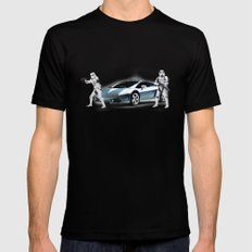 Lamborghini Troopers X-LARGE Black Mens Fitted Tee