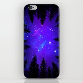 Magical Forest Galaxy Night Sky iPhone Skin