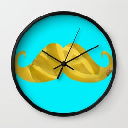 Mustache Banana Wall Clock