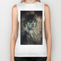 winchester Biker Tanks featuring Sam Winchester by Sirenphotos