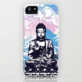 Buddha Tropical Mountain Wave iPhone Case