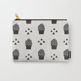 Stamped Potted Succulents Carry-All Pouch