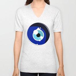 Luck in Circles - Nazar Unisex V-Neck
