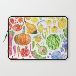 Rainbow of Fruits and Vegetables Laptop Sleeve