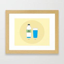 Bottled Water Framed Art Print
