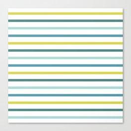 Blue Green Yellow Stripes Canvas Print