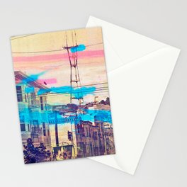 San Fran-See-Peaks - Sutro tower on Stereoid in the mission district, San Francisco Stationery Cards