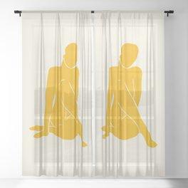 Nude III: Tulip Yellow Edition Sheer Curtain