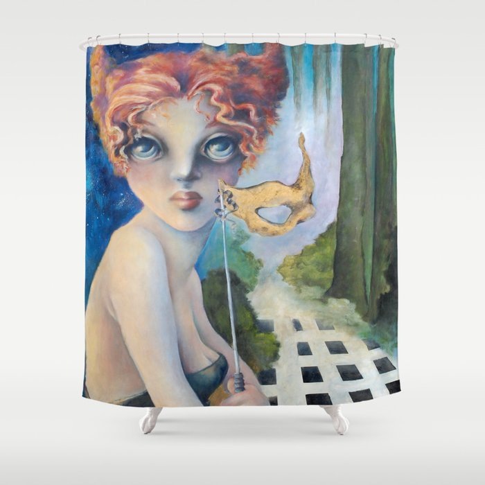 The Masquerade Lucia Shower Curtain By Zimagination