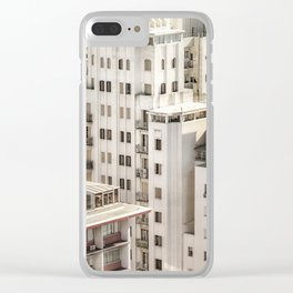 Montevideo Cityscape Aerial View Clear iPhone Case
