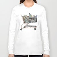 shopping Long Sleeve T-shirts featuring The Shopping by Mitzi Akaha