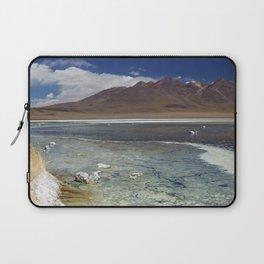 I - Desert lake Laguna Cañapa, Altiplano, Bolivia on a sunny day Laptop Sleeve
