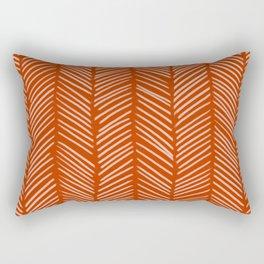 Rust Herringbone Rectangular Pillow