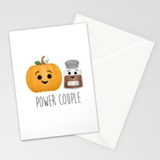Pumpkin + Spice = Power Couple Stationery Cards