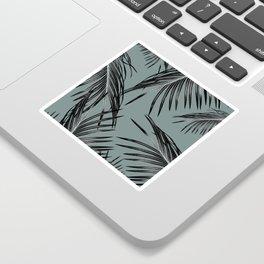 Black Palm Leaves Dream #4 #tropical #decor #art #society6 Sticker