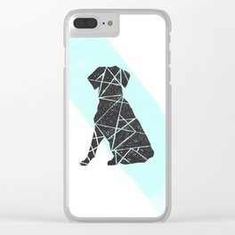 Geometic dog Clear iPhone Case