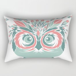 Whimsical Owl Feathers Happy Thanksgiving Rectangular Pillow