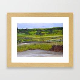 Field in Spring Framed Art Print