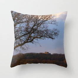 Stafford Castle Site of Ancient Norman Fortress Throw Pillow