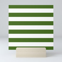 Simply Stripes in Jungle Green Mini Art Print