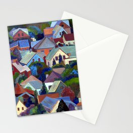 Rooftops of Provincetown, Cape Cod, Massachusetts, from original oil painting by Pamela Parsons Stationery Cards